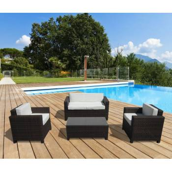Divani Salotto in Rattan Sintetico - Panarea Small Brown